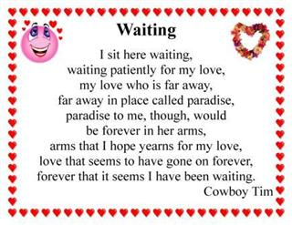waiting in poem